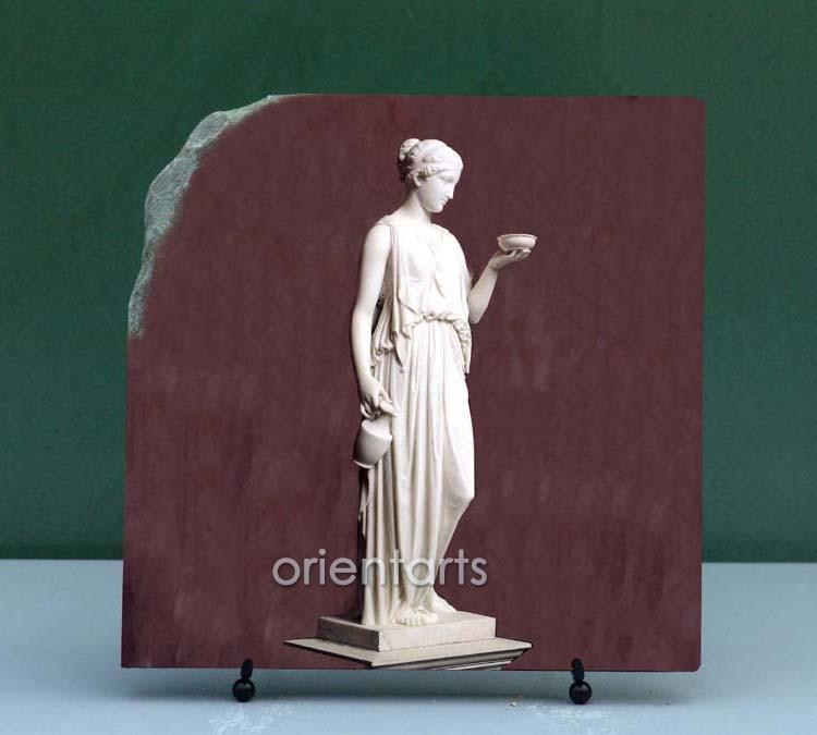Sculpture Art Hebe by Berthel Thorvaldsen Painting on Marble Slab