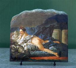 Brown Odalisque by Francois Boucher Oil Painting Reproduction on Natural Stone
