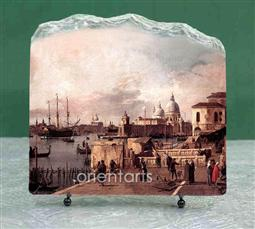 Canaletto Oil Painting Reproduction on Marble Slab