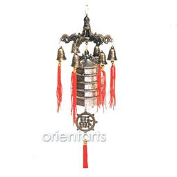 Chinese Pagoda with 5 Dragons Feng Shui Fortune Bells