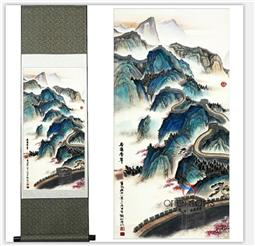 Chinese Silk Painting The Great Wall Landscape Painting