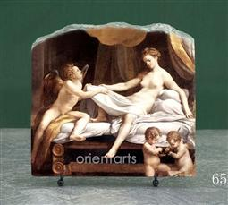 Danae by Correggio Oil Painting Reproduction on Marble Slab