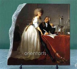 Oil Painting Reproduction on Marble Slab