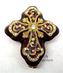 The Cross Alloy Trinket Box