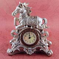 Antique Horse Desktop Clock
