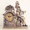 Lady with Musical Instruments Statue Resin Tabletop Clock