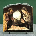 Nativity by Lorenzo Costa Oil Painting Reproduction on Marble Slab