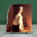 Portrait of Queen Victoria by Thomas Sully Oil Painting Reproduction on Marble Slab