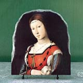 Portrait of a Lady with a Lap Dog by Lorenzo Costa Oil Painting Reproduction on Marble Slab