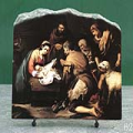 The Adoration of the Shepherds by Bartolome Esteban Murillo Oil Painting Reproduction on Marble Slab