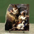 The Angel Succouring Hagar by Tiepolo Giovanni Battista Oil Painting Reproduction on Marble Slab