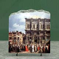 The Feast Day of St Roch by Canaletto Oil Painting Reproduction on Marble Slab