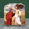 The Incredulity of St Thomas by Ludovico Mazzolino Oil Painting Reproduction on Marble Slab