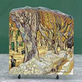 The Large Plane Trees by Vincent Van Gogh Oil Painting Reproduction on Marble Slab