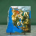 The Last Judgment by Michelangelo Oil Painting Reproduction on Natural Stone