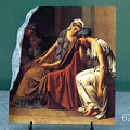 The Oath of the Horatii by Jacques Louis David Oil Painting Reproduction on Marble Slab