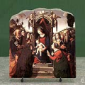 Virgin and Child Enthroned with Saints by Piero di Cosimo Oil Painting Reproduction on Marble Slab