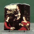 Virgin and Child with Saints by Ambrosius Benson Oil Painting Reproduction on Marble Slab