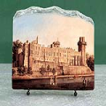 Warwick Castle by Canaletto Oil Painting Reproduction on Marble Slab